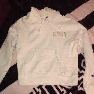 women's white champion hoodie